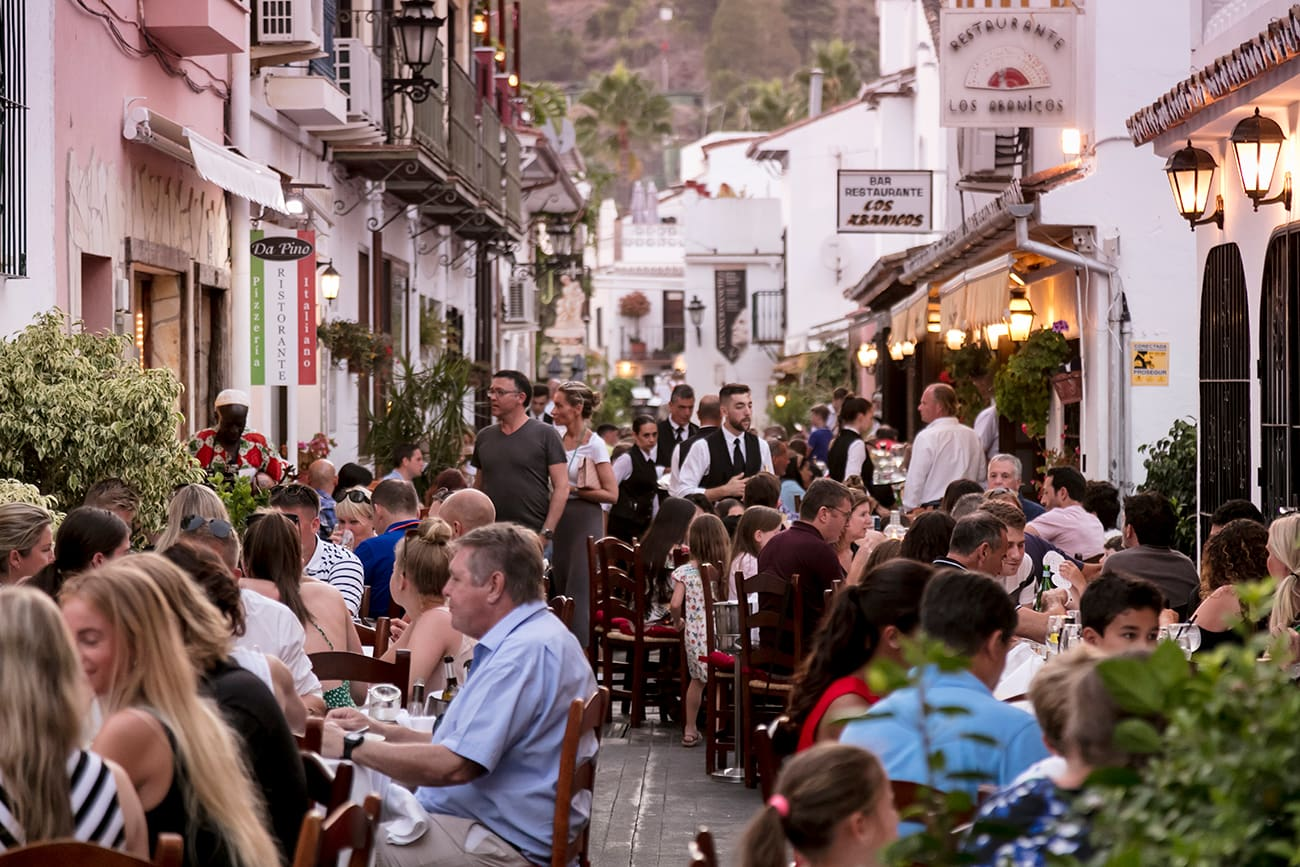 Dining in Benahavis village near Marbella