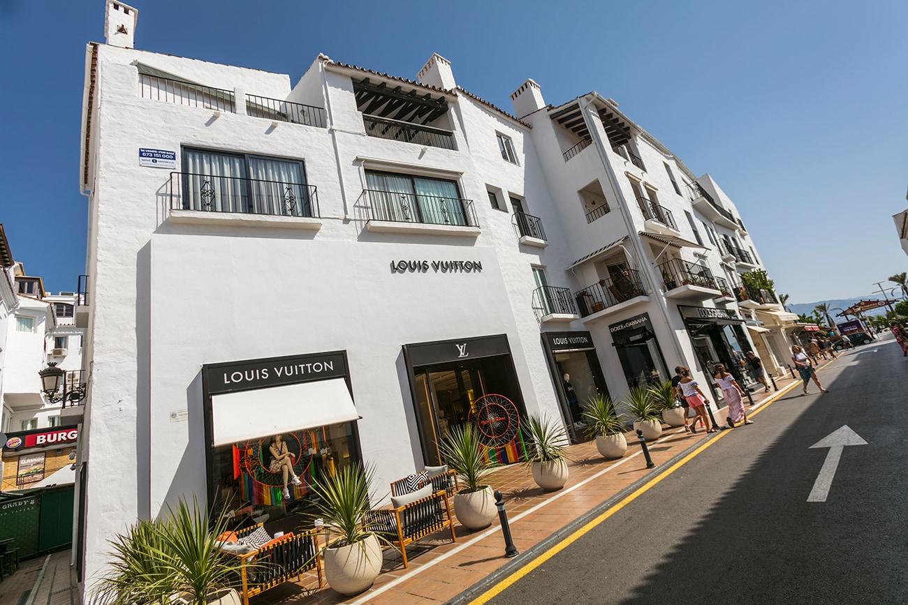 Louis Vuiton store in Puerto Banus, Marbella, Spain