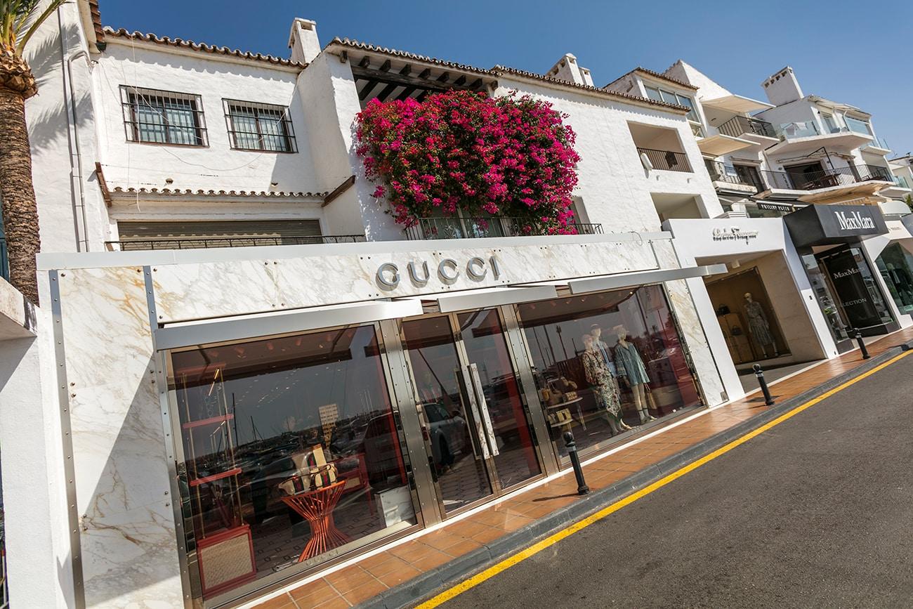 Gucci store in Puerto Banus, Marbella, Spain