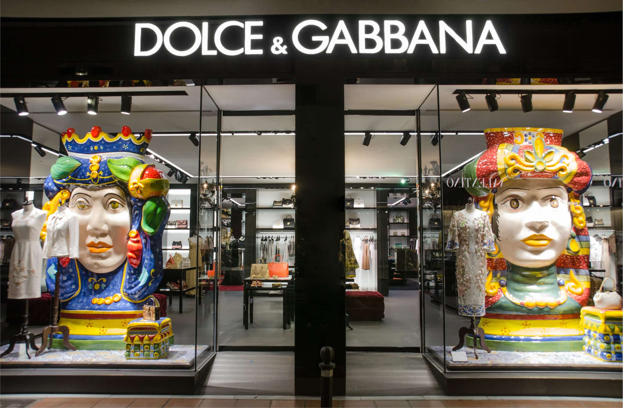 Dolce & Gabbana store in Puerto Banus, Marbella, Spain. Is an Italian luxury industry fashion house. The company was started by Italian designers Domenico Dolce and Stefano Gabbana.