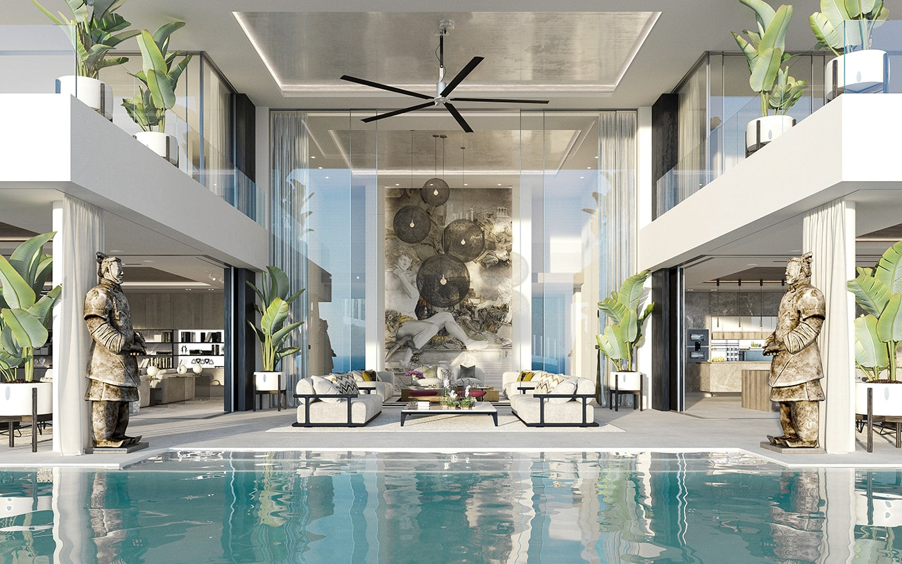 Villa Alcuzcuz, Marbella - formal lounge terrace