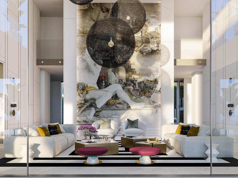 The formal lounge of Villa Alcuzcuz