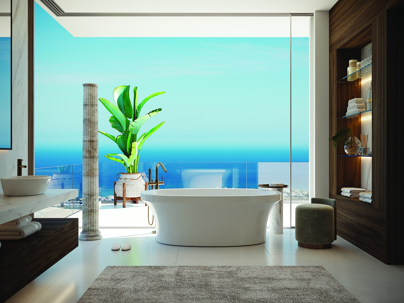 At Vista Lago Residences the view from the bath is incomparable!