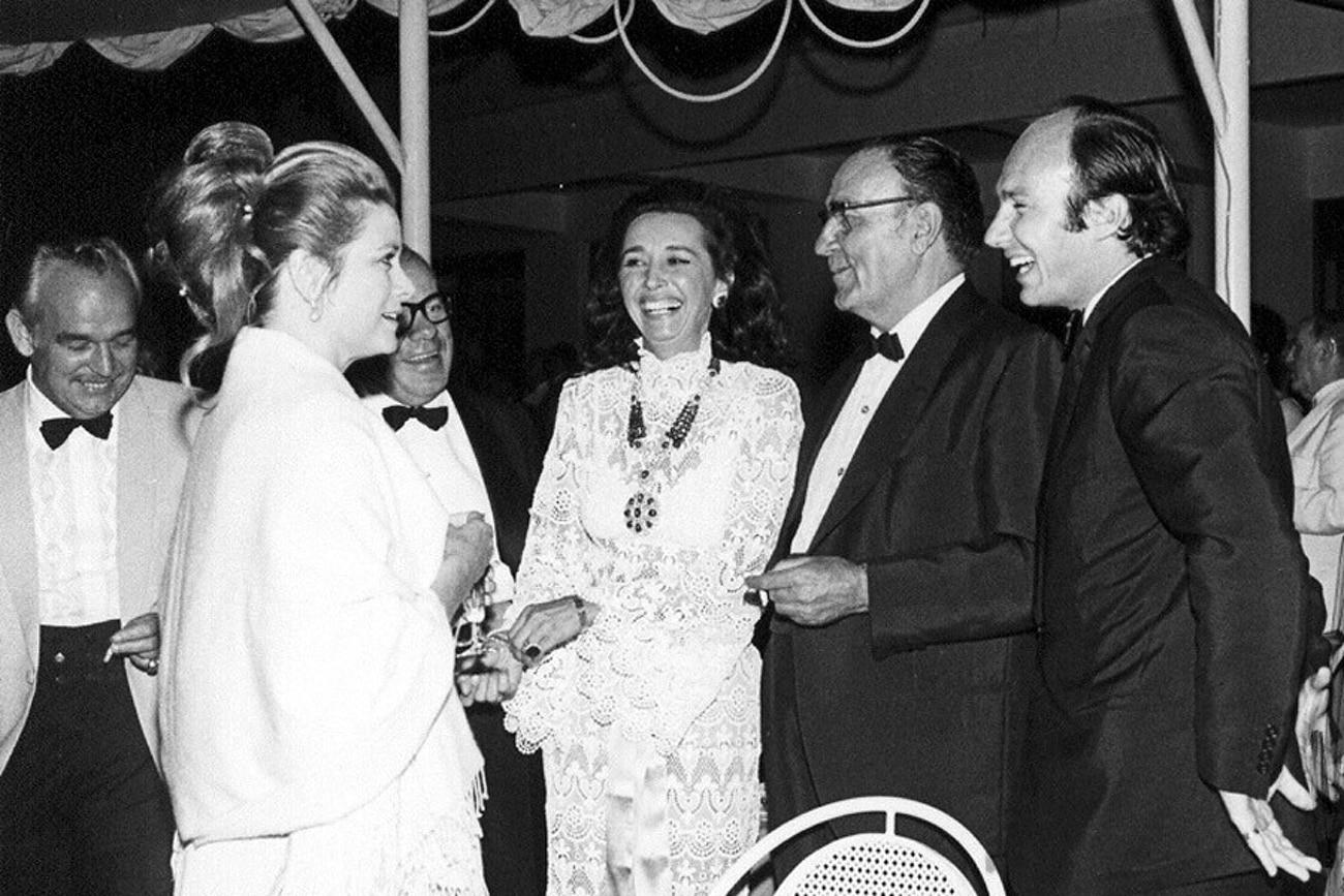 Puerto Banús Grace Kelly, Prince Rainier & Jose Banús at the inauguration of Puerto Banús, May 1970