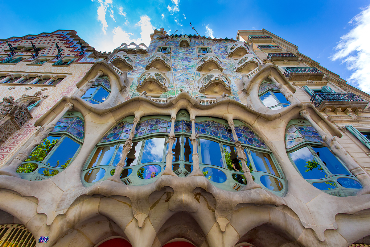 Casa Batlló, in the centre of Barcelona, was redesigned in 1904 by Gaudí