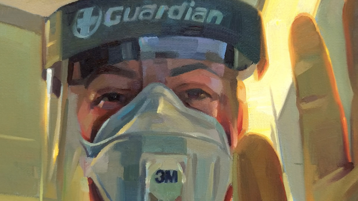 Tom Croft and other artists are painting portraits of frontline workers for free