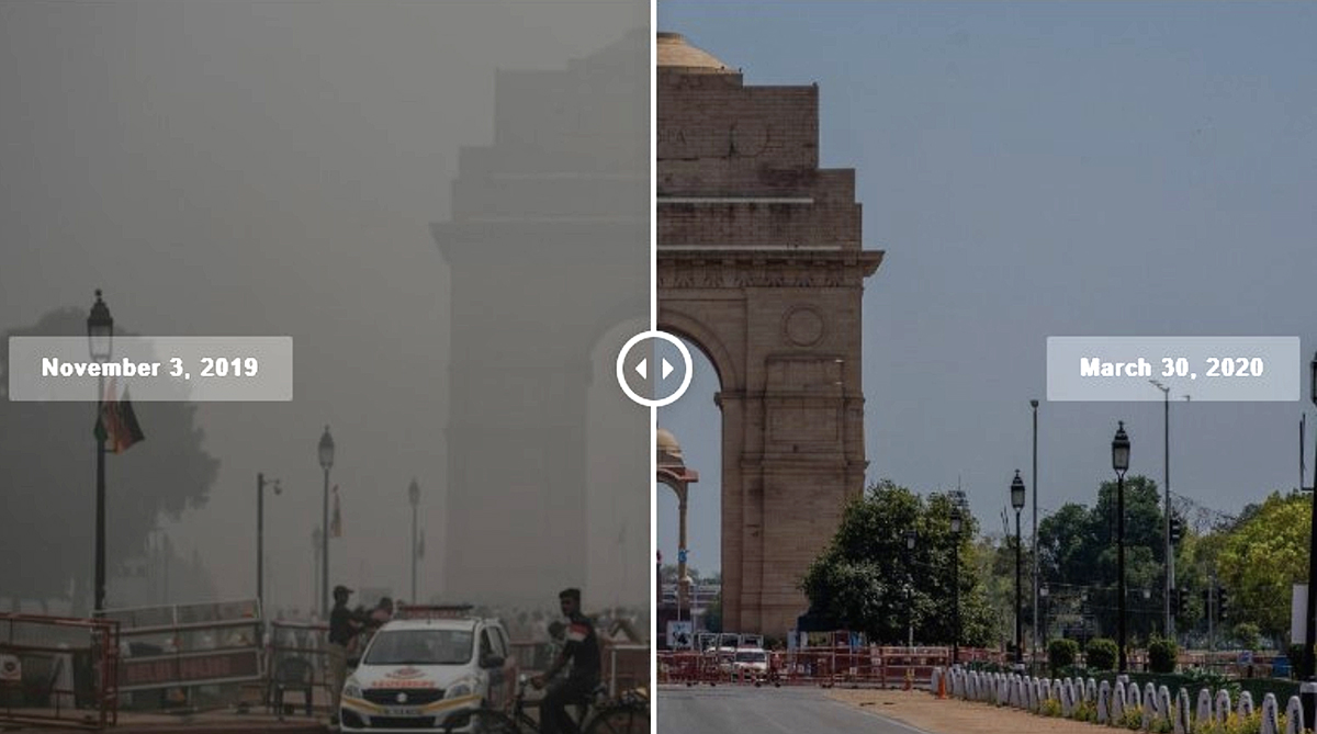 Delhi's horrendous pollution gives way to clear skies