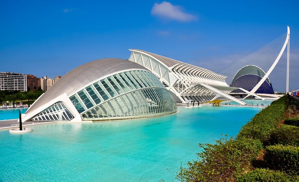 City of Arts and Sciences by Santiago Calatrava, Valencia, Spain