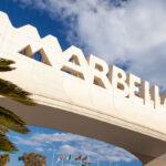 Marbella Arch - the iconic entrance to Marbella on the Costa del Sol, Spain