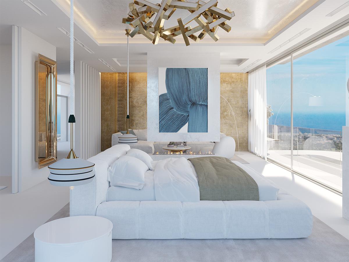 Vista Lago Residences, Marbella - Master bedroom suites have a luxury hotel feel