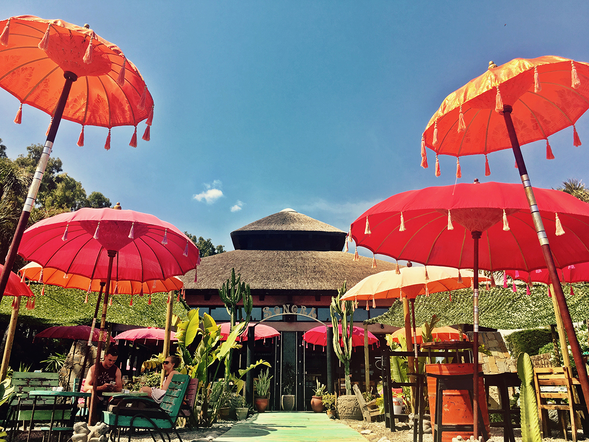 The bright decor adds to the happy atmosphere at Sonora Beach
