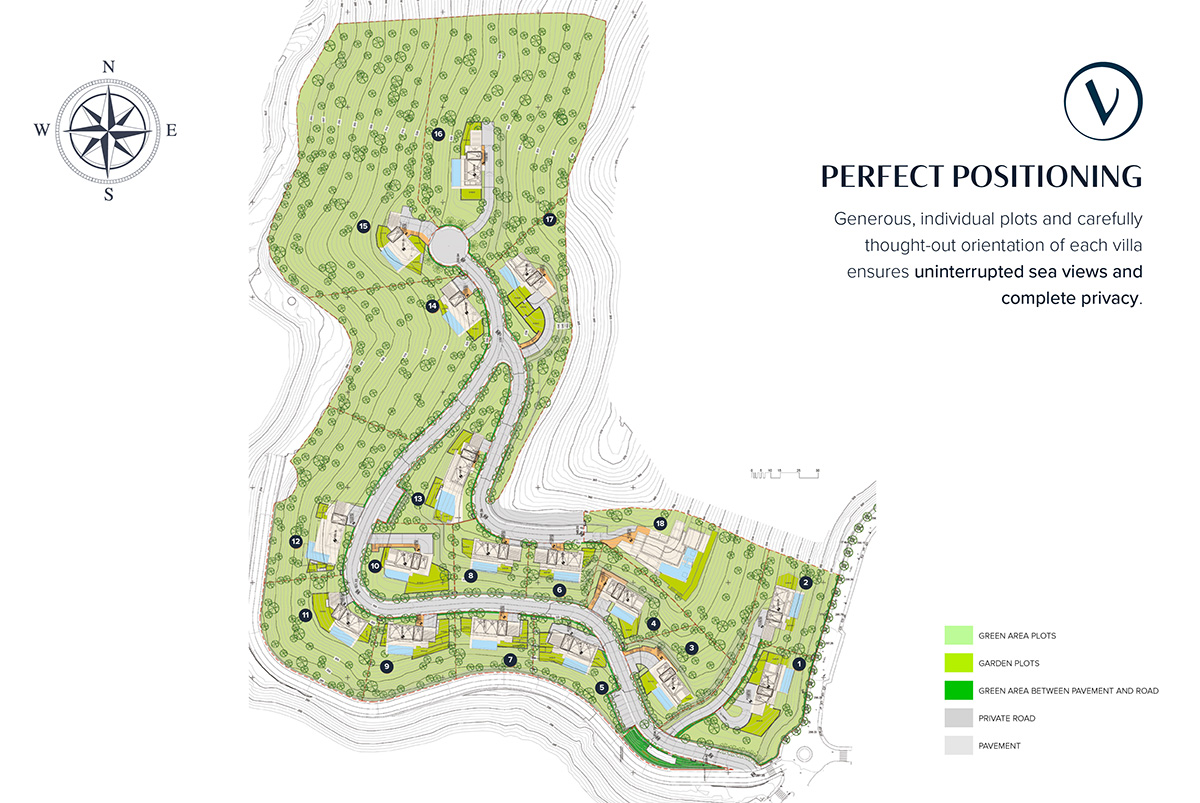 Vista Lago Residences - map of plots