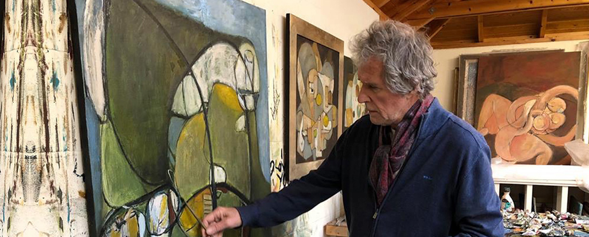 John Illsley at work in his New Forest Studio