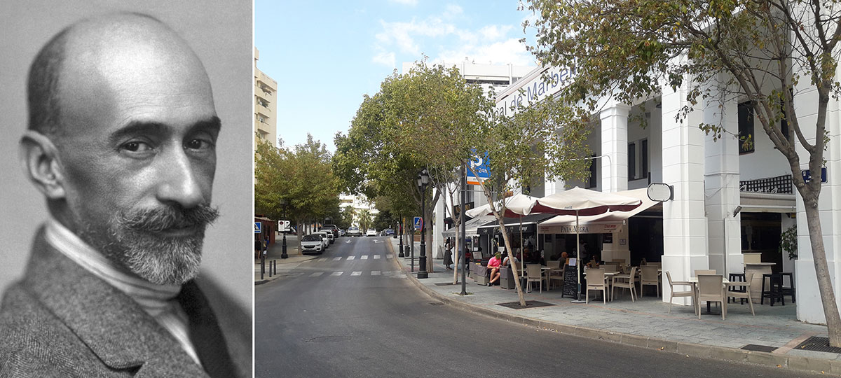 Jacinto Benavente and the street named in his honour