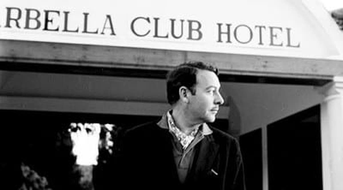 Prince Alfonso outside the Marbella Club in the early days