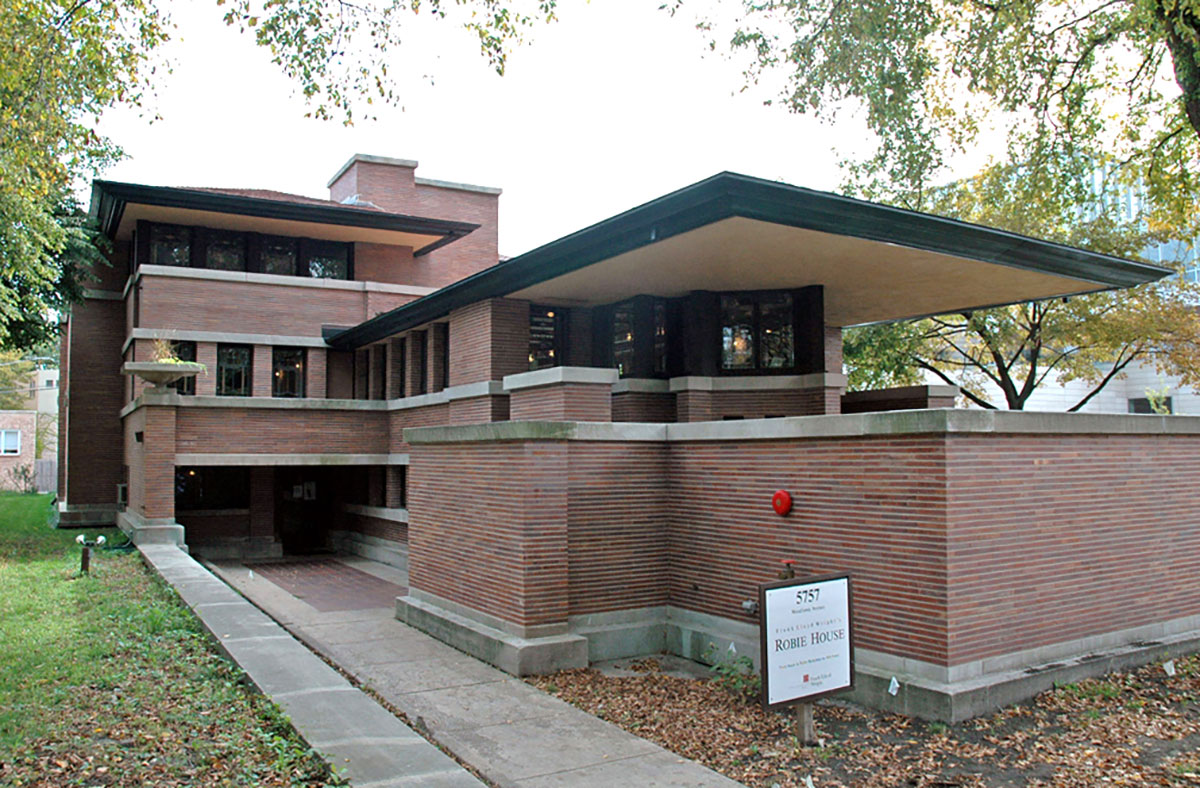 Wright's 1910 Robie House in Chicago
