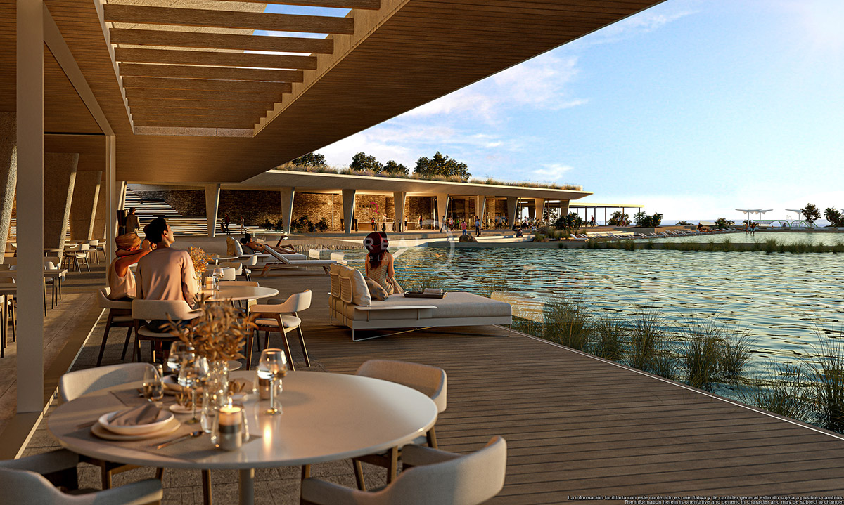 One will be able to enjoy the luxury of lakeside dining