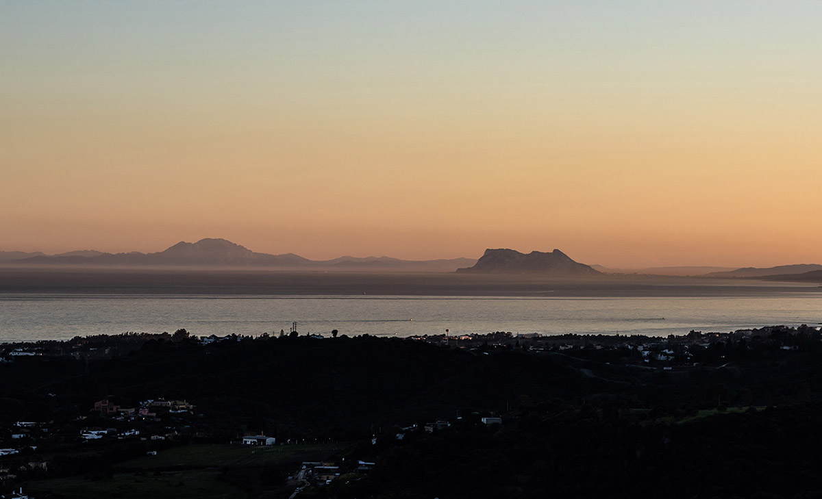 Sunset to Africa and Gibraltar