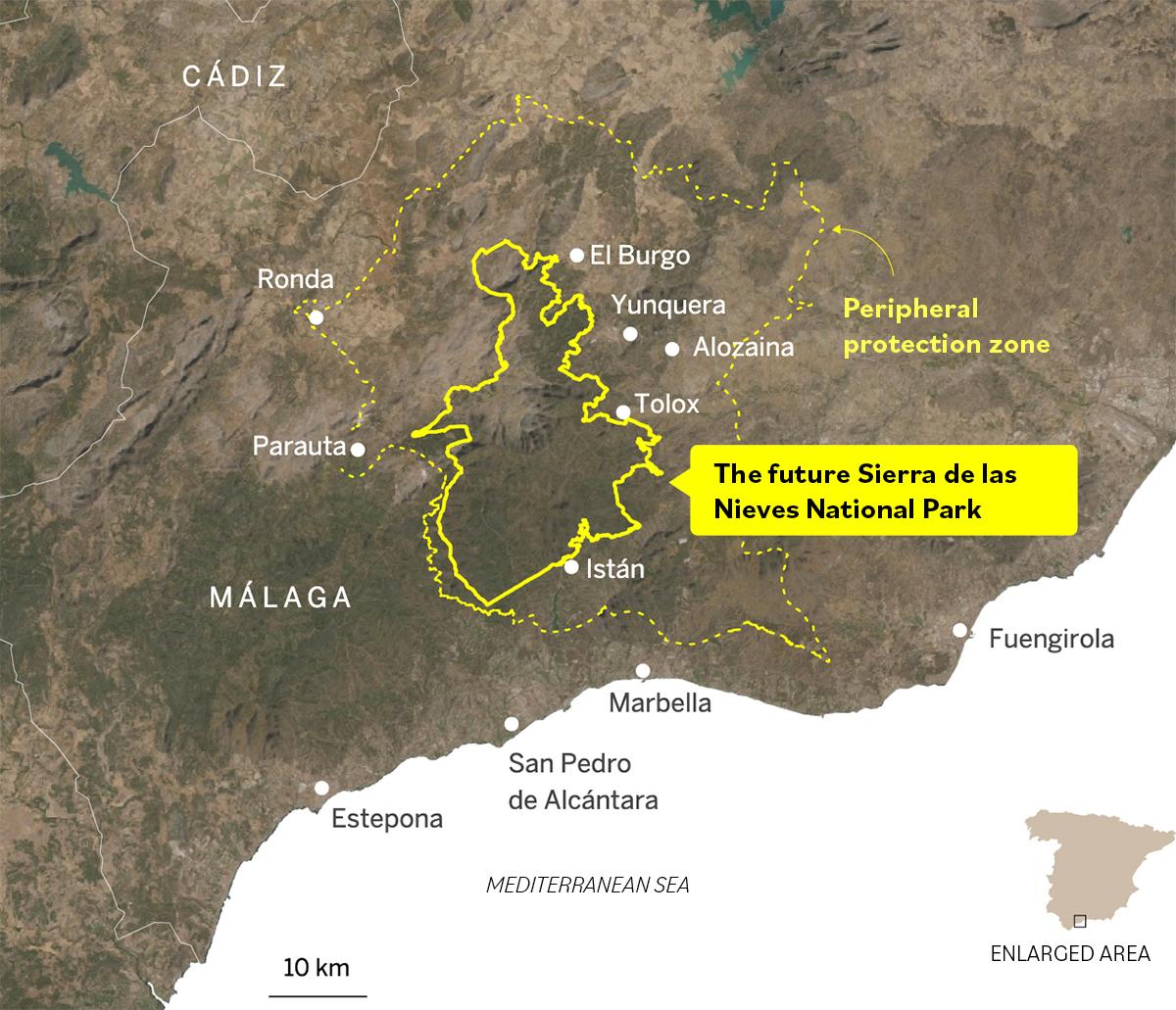 New Sierra de las Nieves national Park