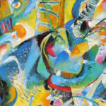 An early Kandinsky, showing him on his way towards pure abstraction.