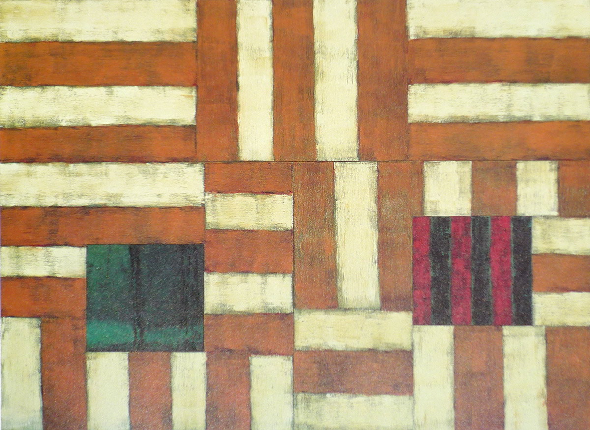 Abstract painting by Irish-born New Yorker Sean Scully
