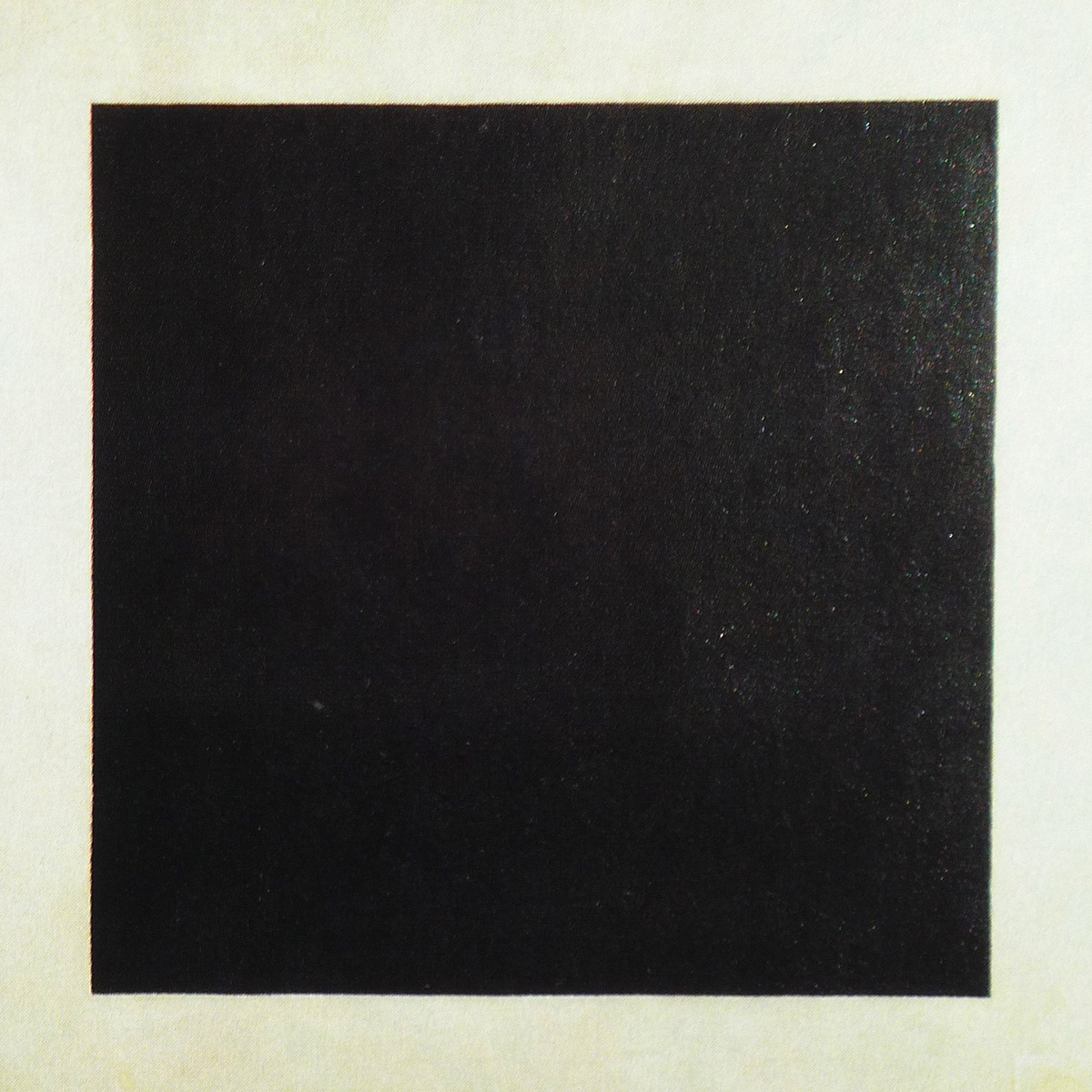 Black square on a white background, work by the Russian Kasimir Malevich,