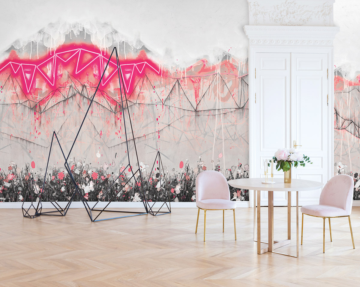 """""""Neon Bunting Soho Pink"""" by Lee Herring for FEATHR"""