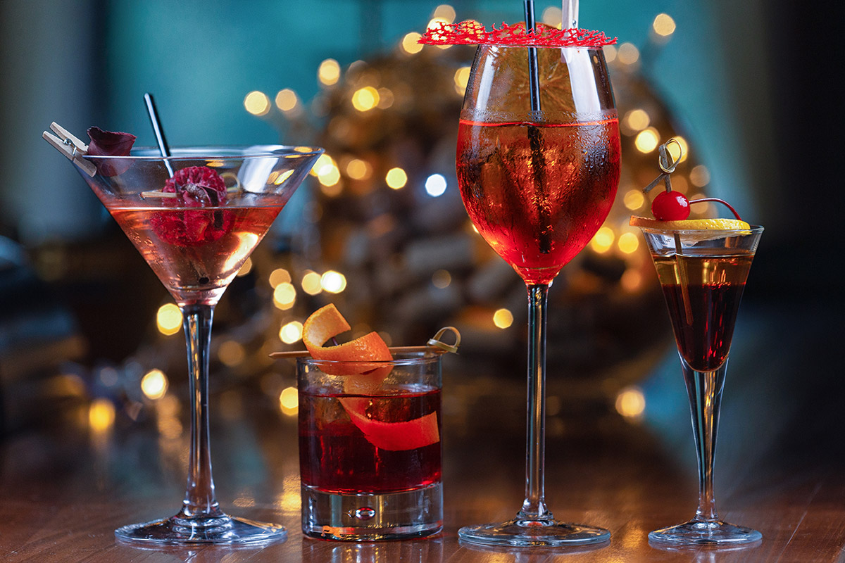 Coctails in red