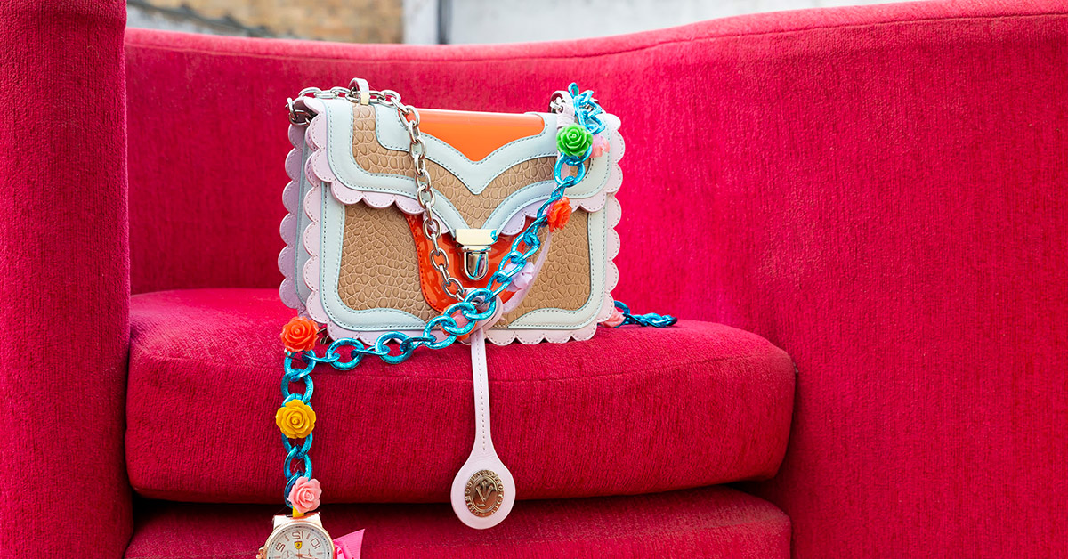 Colourful bag by By Victoria & Luccchino.