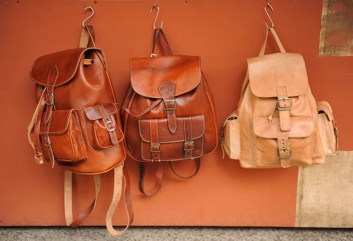 Handmade leather back pack bags