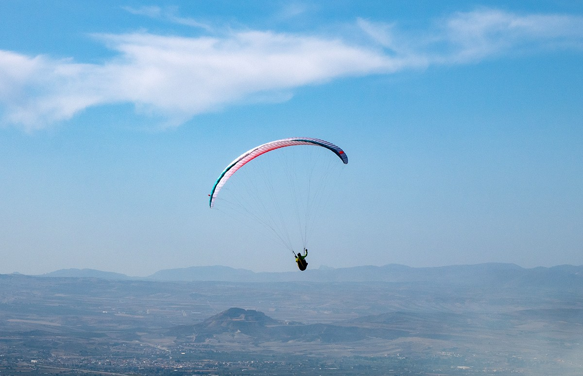 Paragliding over Granada