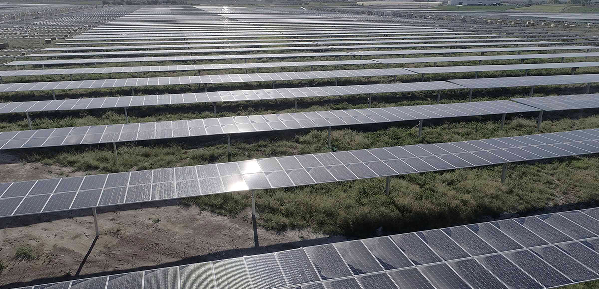 The new Enel Green photovoltaic solar plant, in Murcia