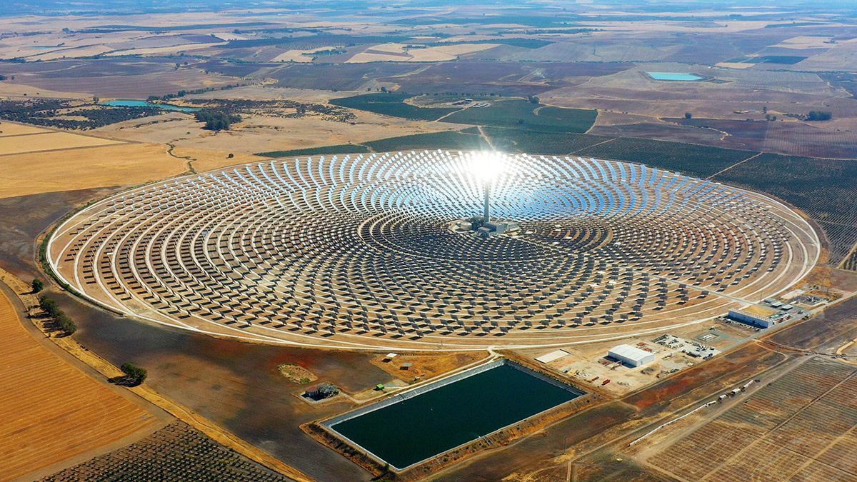 The PS10 Solar Power Plant, the world's first solar power tower operating near Seville