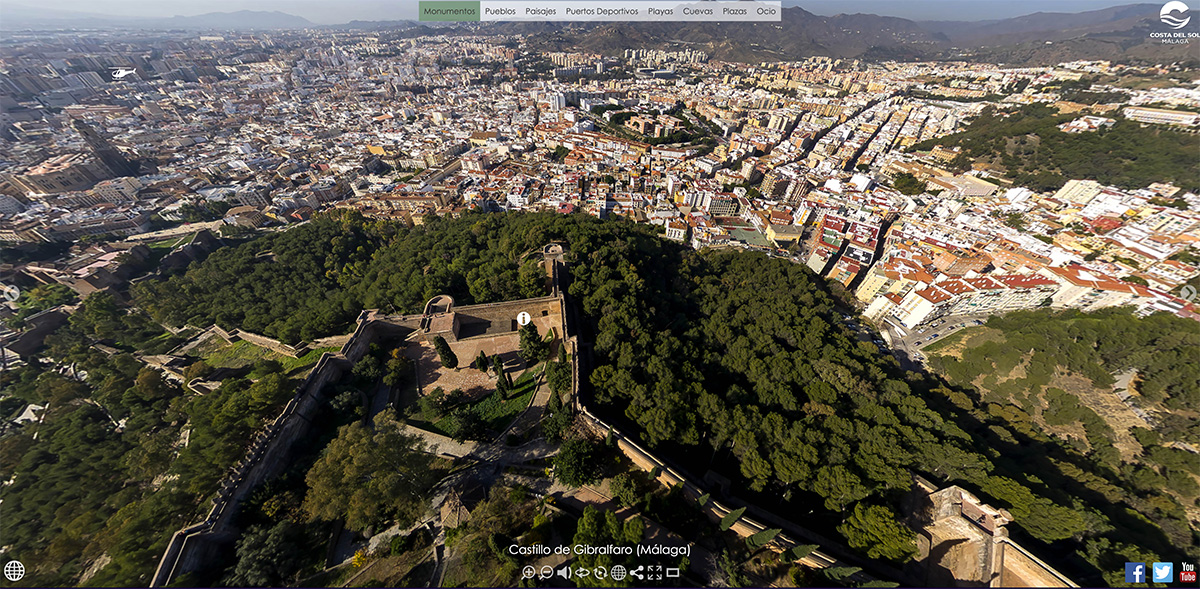 Malaga castle and city
