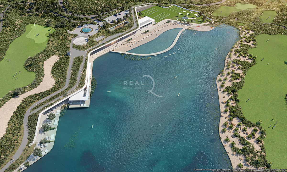 Real de La Quinta lake