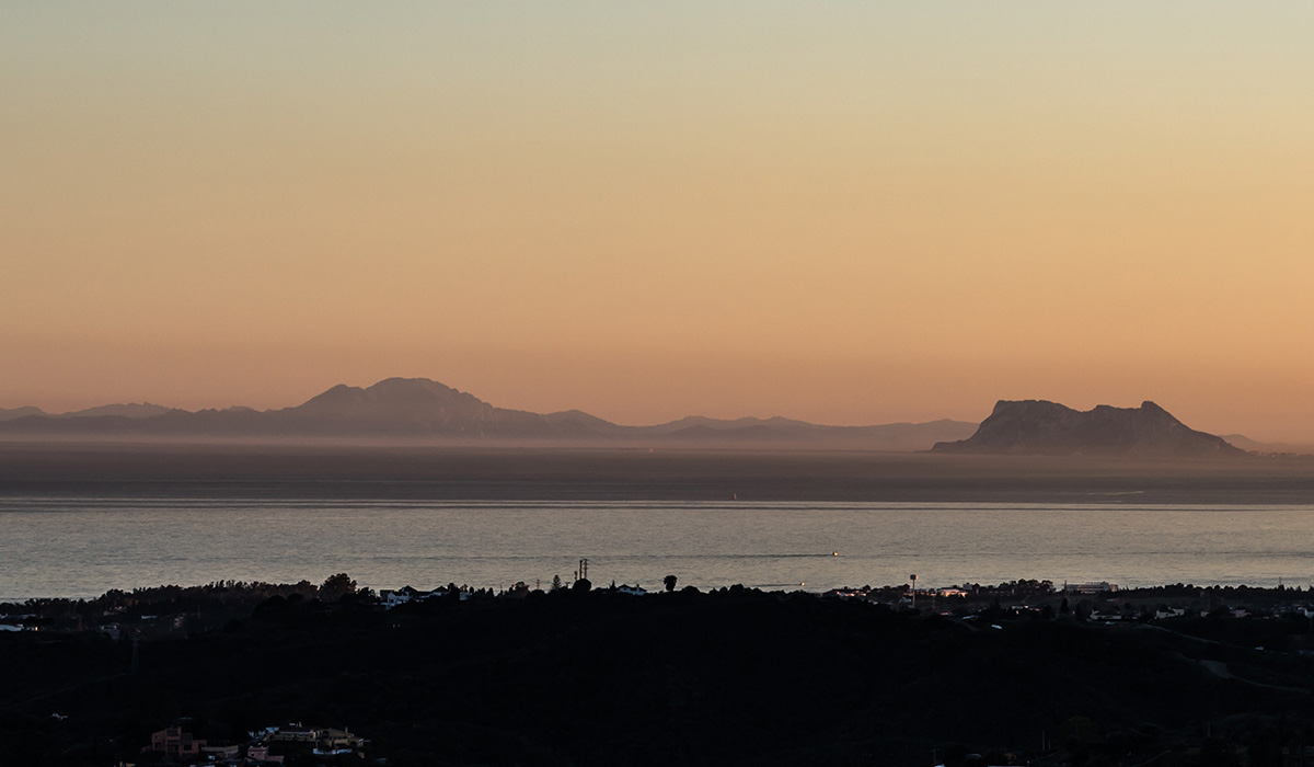 Sunset over Strait of Gibraltar