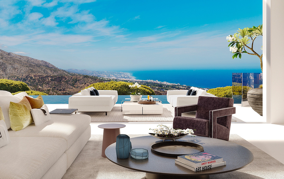 View from the lounge of Villa Nº3 at Vista Lago Residences