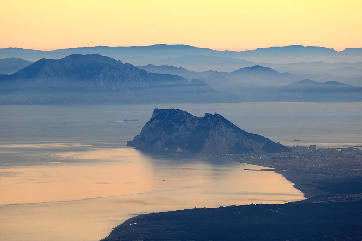 The Pillars of Hercules – Gibraltar and Jebel Musa at sunset