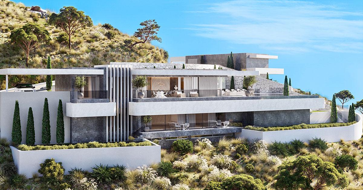 One of the villas at Vista Lago Residences
