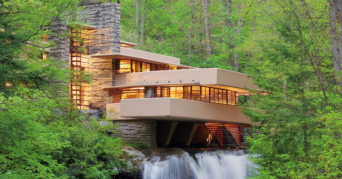 Wright's famous Fallingwater House