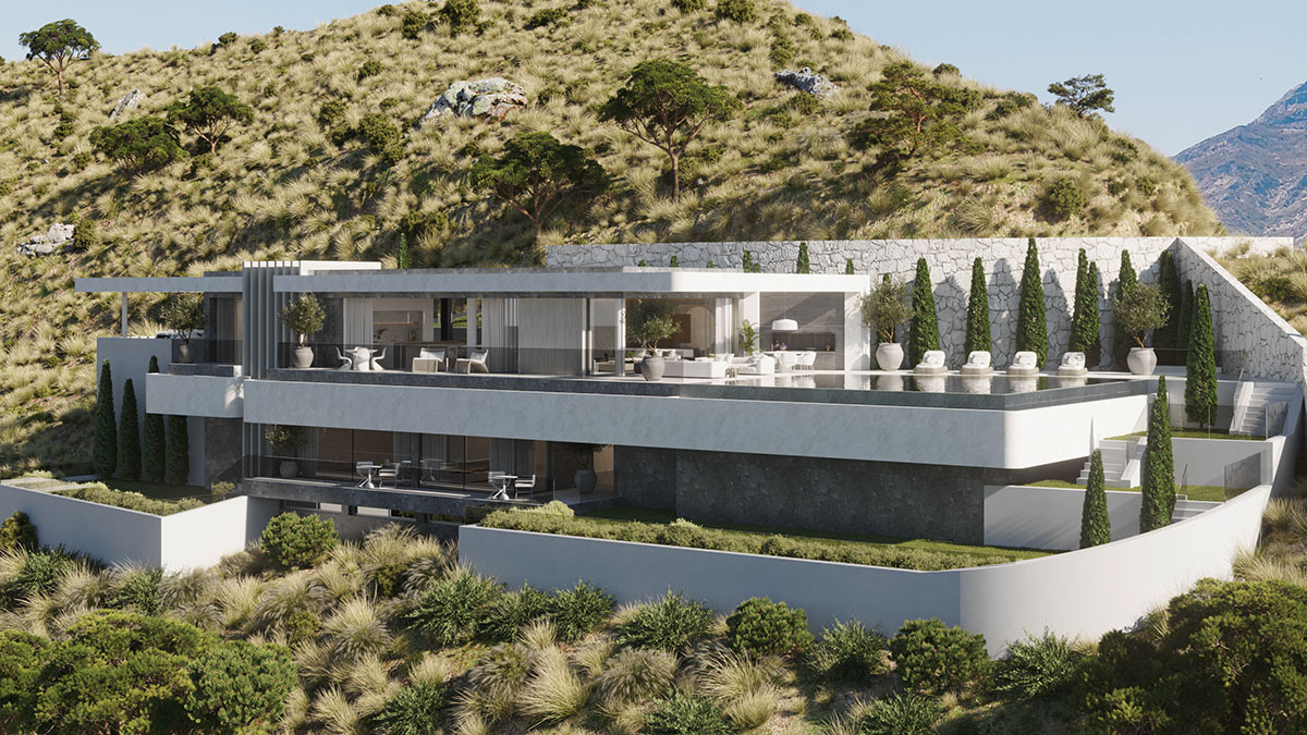 Vista Lago villas offer open plan living in much the same way as Wright's houses do