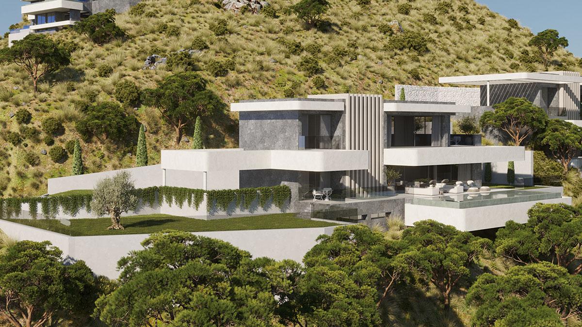 Vista Lago villas are an integral part of the landscape