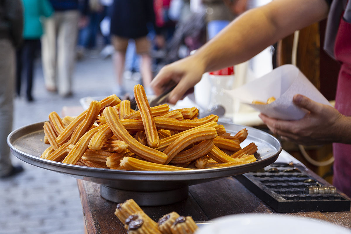Churros for sale on the street