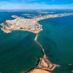Arial view of Cadiz city
