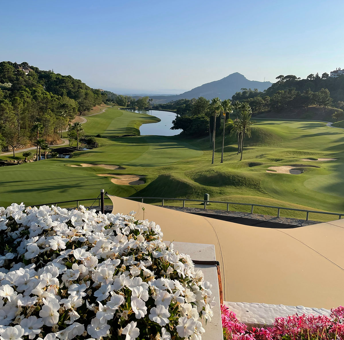 La Zagaleta golf course from the Clubhouse